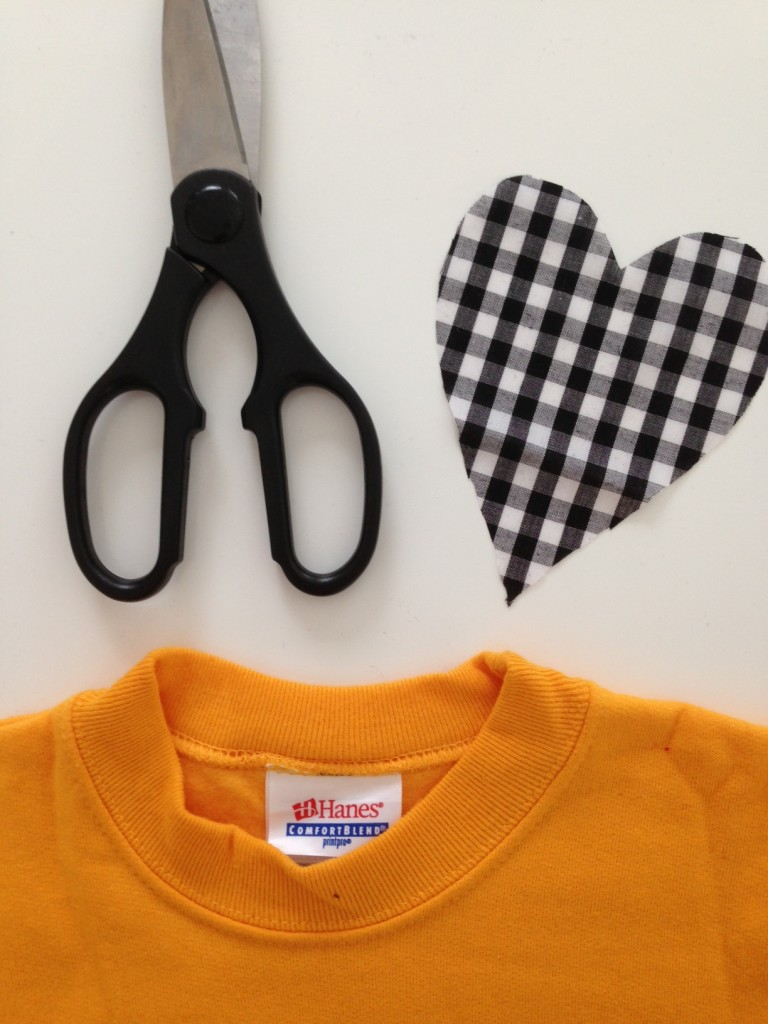DIY: No-Sew Heart Sweatshirt // The Little Things We Do