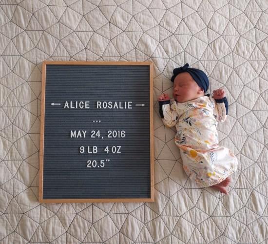 My Birth Story: The Birth of Alice Rosalie