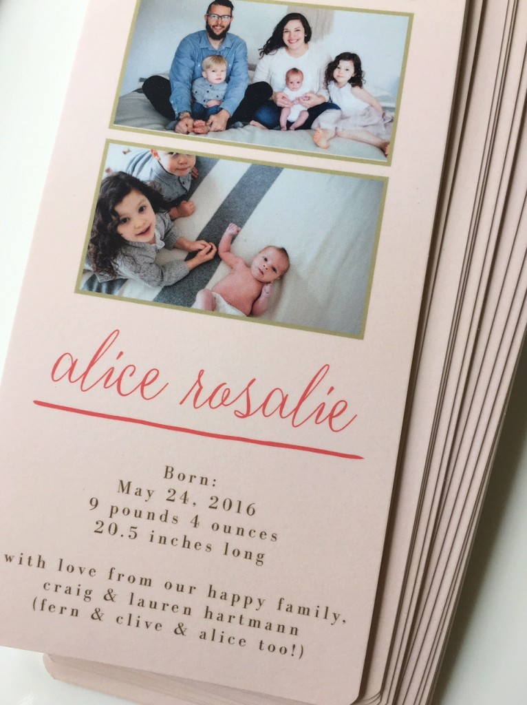 Something Special for the Third Child // Not-So-Basic Birth Announcements