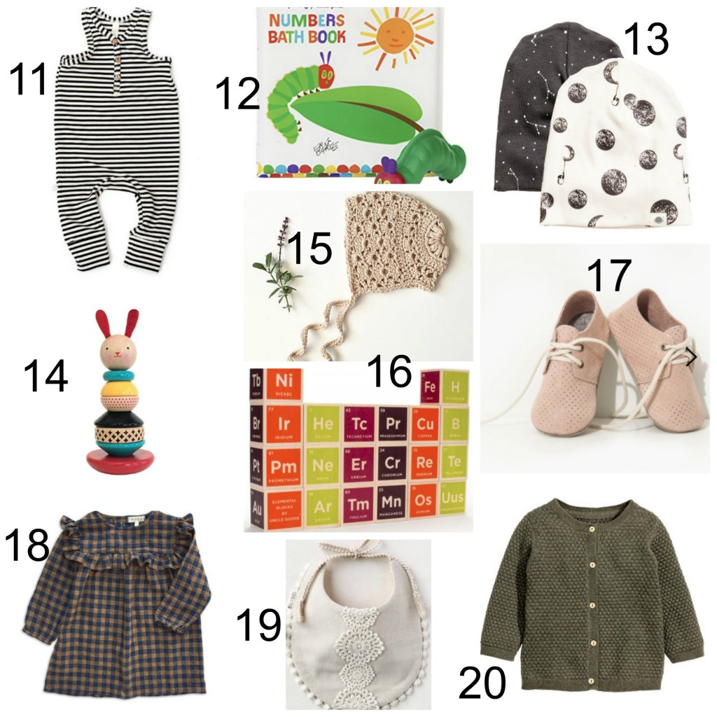 2016 Holiday Gift Guide for Babies // ages 0-1