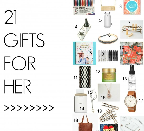 2016 Holiday Gift Guide for Her