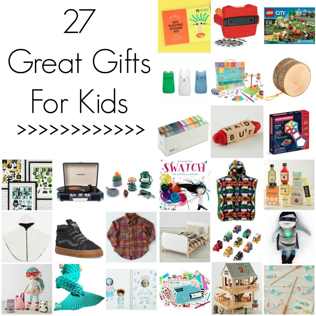 27 Great Gifts for Kids // Fun gift ideas for the holidays for boys + girls ages 2-8